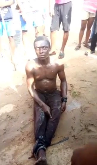Man caught picking used sanitary pads in Delta State University (WATCH VIDEO).