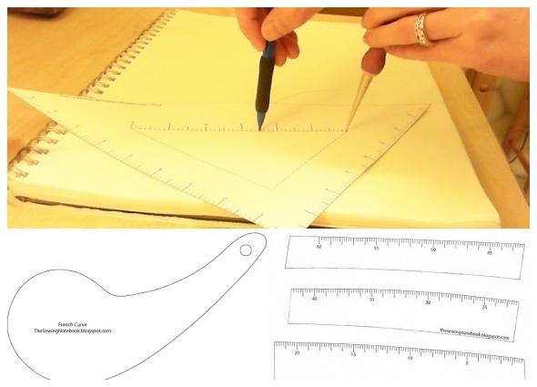 reglas costureras, curva francesa, metros modistas