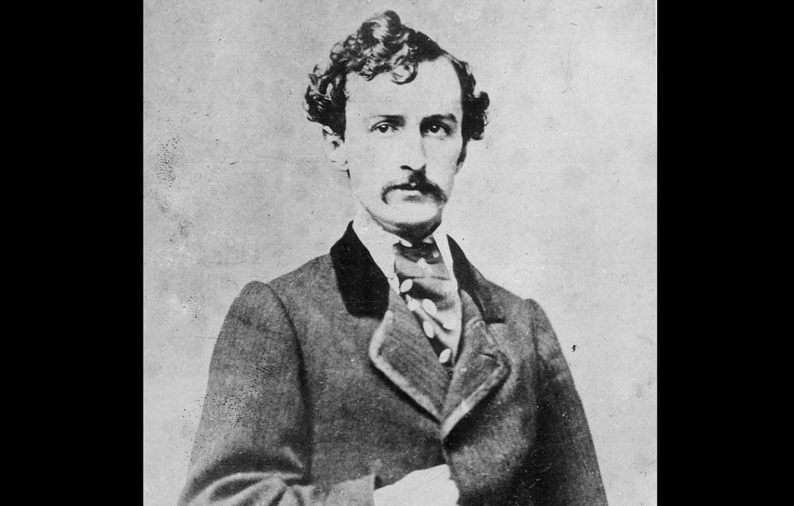 Stage actor and Confederate sympathize John Wilkes Booth, in a portrait taken some time before he assassinated President Abraham Lincoln in 1865. Booth and a group of co-conspirators planned to kill Lincoln, Vice President Andrew Johnson, and Secretary of State William Seward, hoping to assist the Confederacy, despite the earlier surrender of Robert E. Lee. After he shot Lincoln at Ford's Theater, in Washington, District of Columbia, on April 14, 1865, he fled to a farm in rural northern Virginia, but was tracked down 12 days later, and killed by a Union soldier.