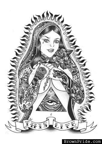 Tropicalizer Virgen De Guadalupe Cholo Art