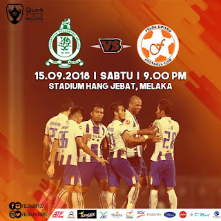 Live Streaming Melaka United vs Felda United Piala Malaysia 15.9.2018