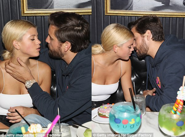 "The look of love! Scott Disick and Sofia Richie can""t keep their lips or eyes off eachother"