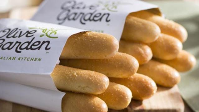 Baguete do restaurante italiano Olive Garden