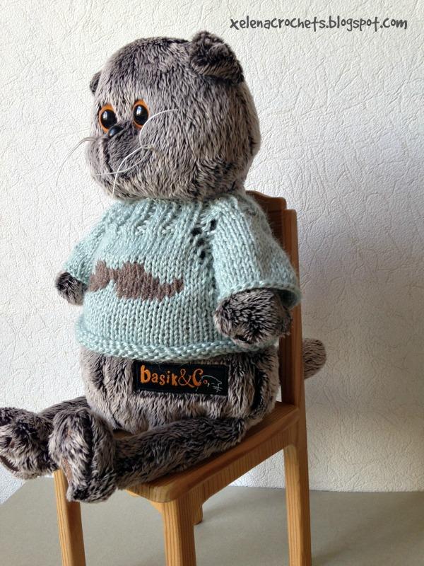 как связать свитер Басику спицами