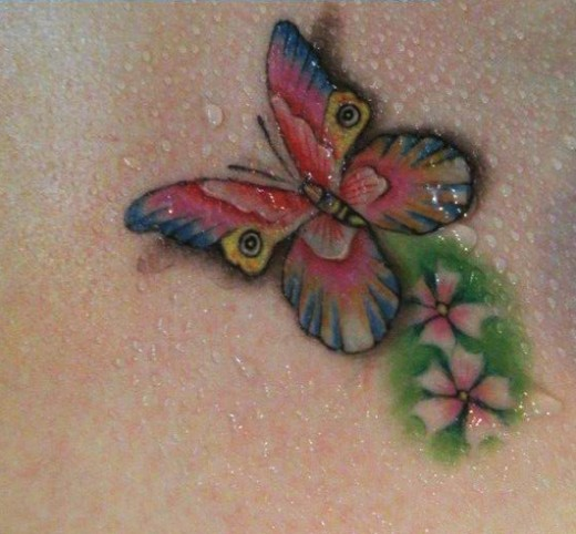 College Girls And School Students Will Like To Print These Lovely Butterflies Tattoo Design On Hand