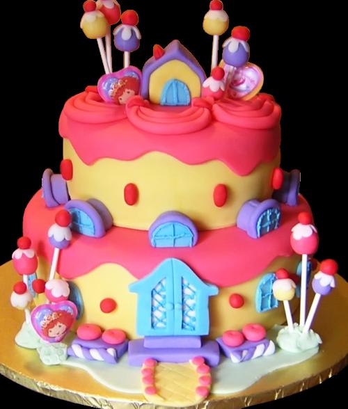 Candy Themed Child's Birthday Cake