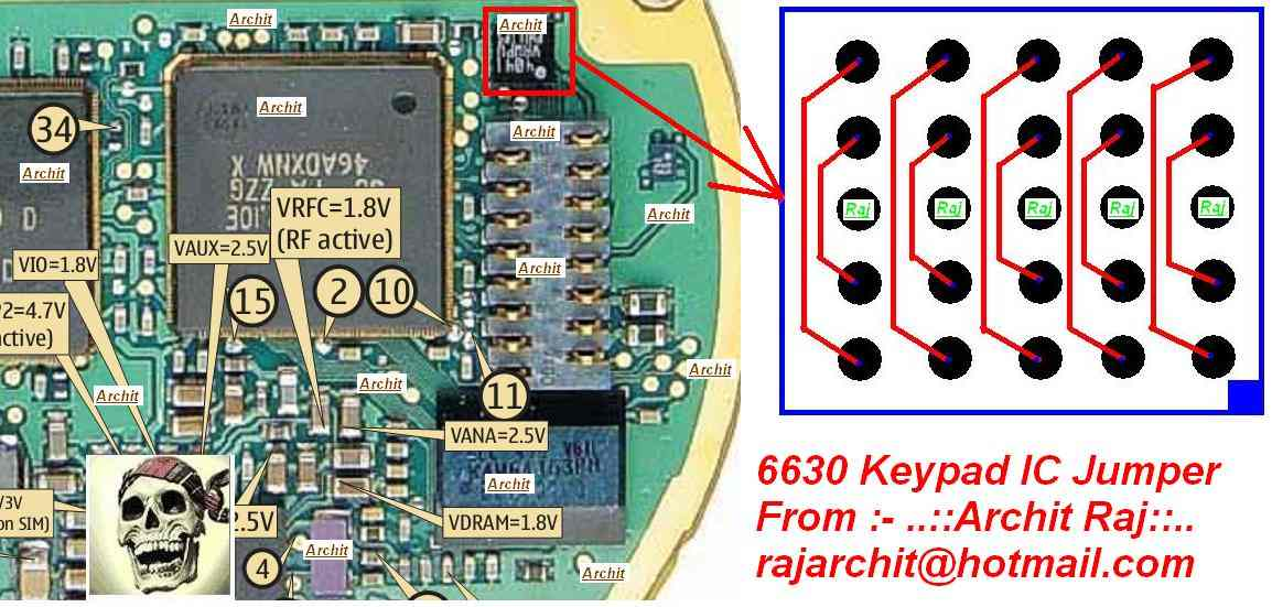 Nokia 6630 Keypad Problem Picture Help | Phone Repairing