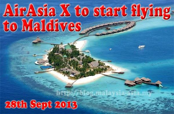AirAsia X flights to Male, Maldives 28th September 2013