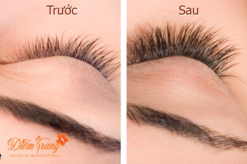 Trước và sau khi nối mi tại TMV Diễm Trang