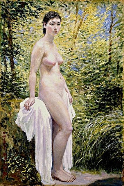 Okada Saburosuke: Nudo in riva al lago