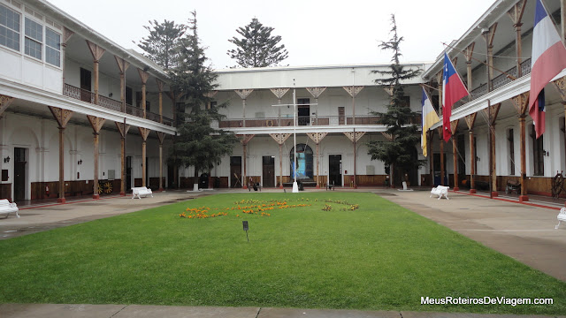 Pátio do Museo Naval y Maritimo - Valparaíso