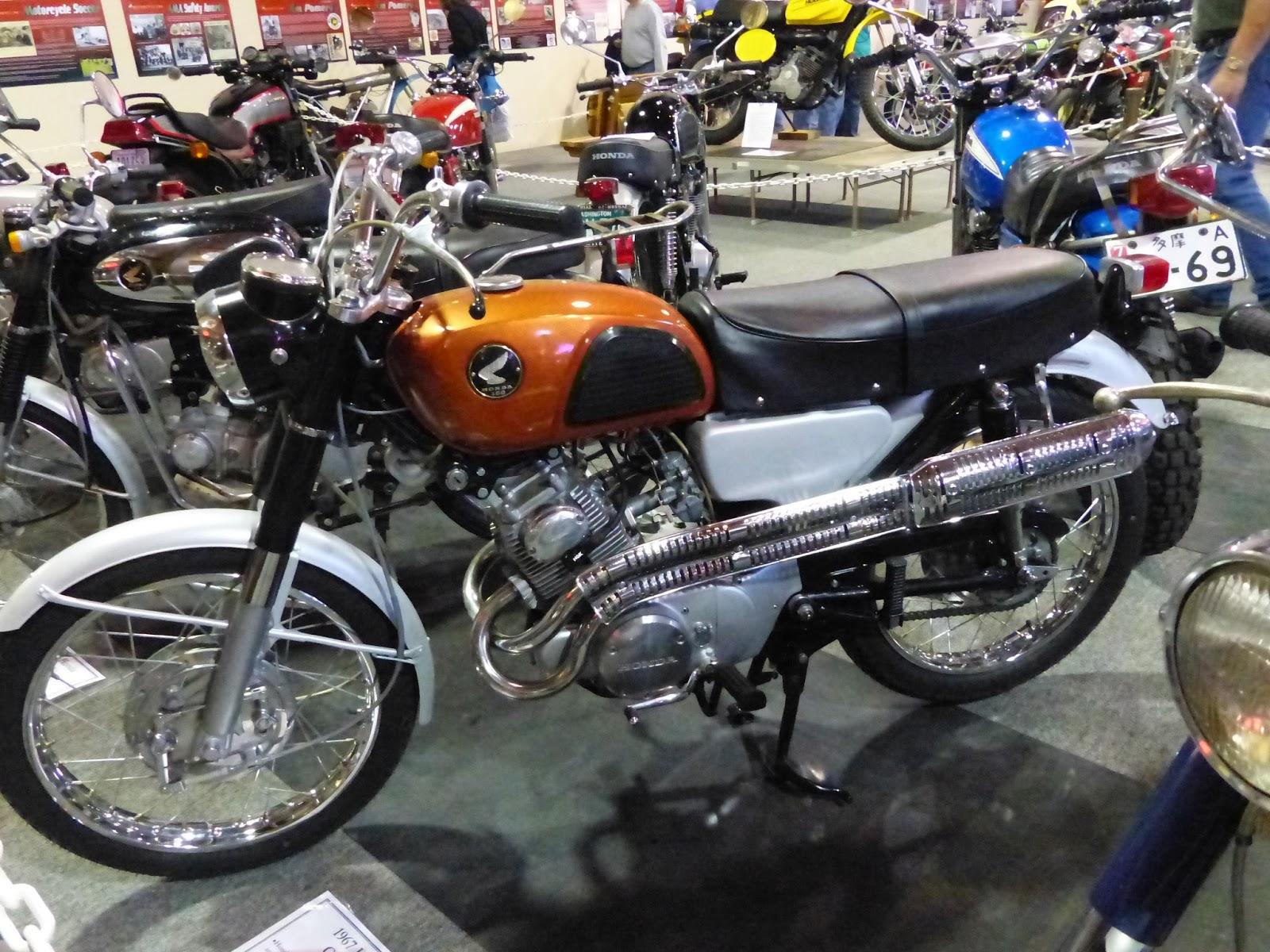 oldmotodude: 1967 honda cl160 on display at the 2016 marymount