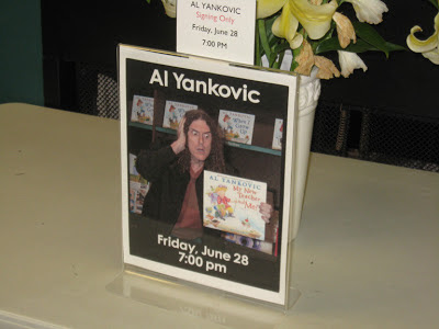 """Weird Al"" Yankovic, Al Yankovic, My New Teacher and Me!, Quail Ridge Books, Raleigh, North Carolina, signing"