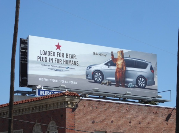 Chrysler Pacifica Loaded for bear billboard