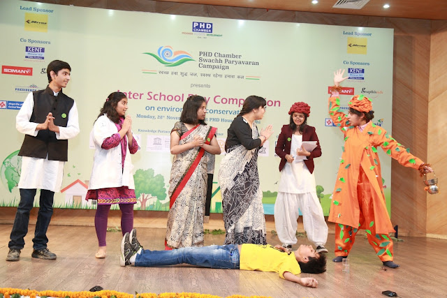 Students at one of their Inter school Play Acts