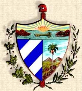 Dibujo de escudo de Cuba con fondo