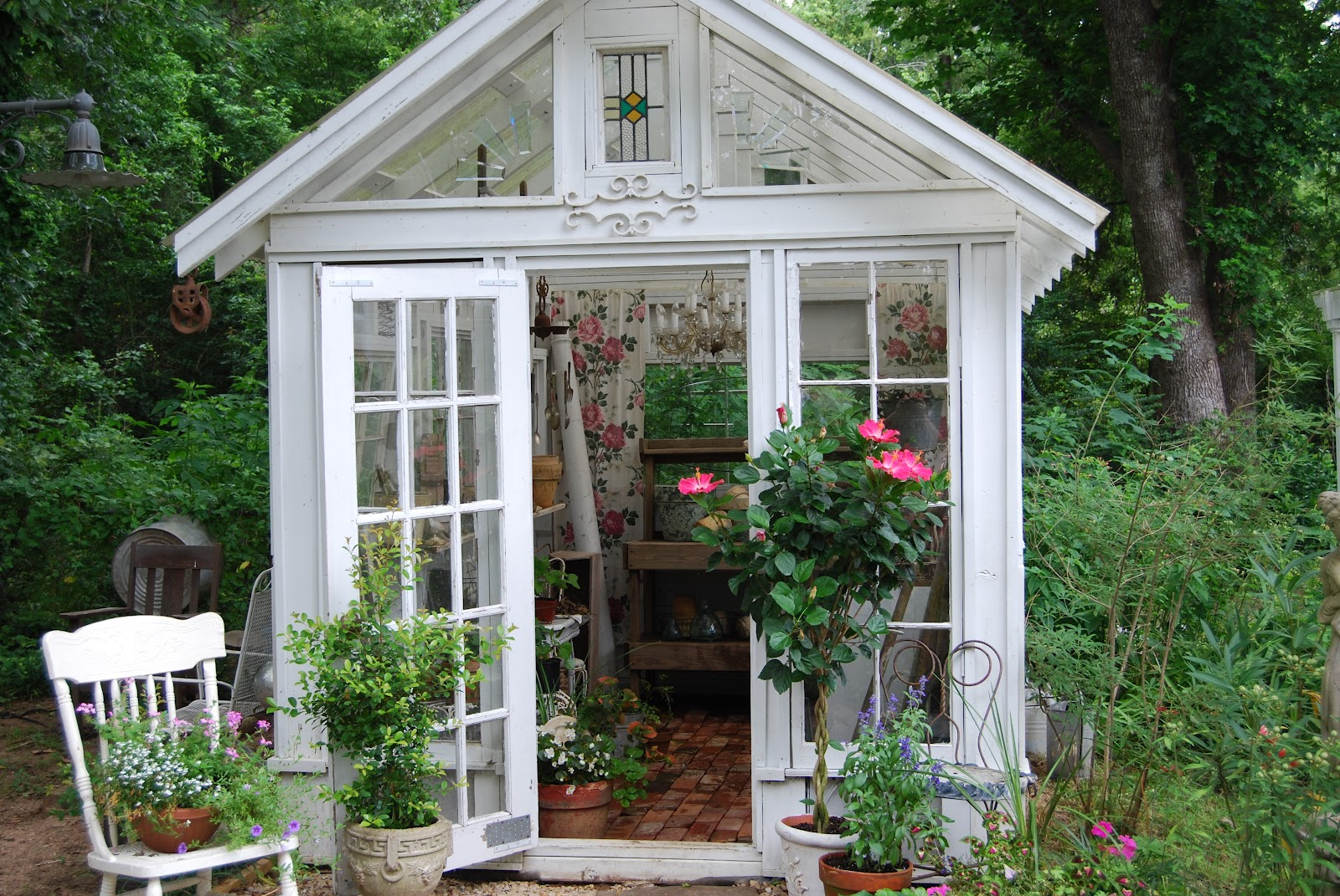 Our Cottage Nest: Ann Perry's Beautiful Greenhouse - photo#36