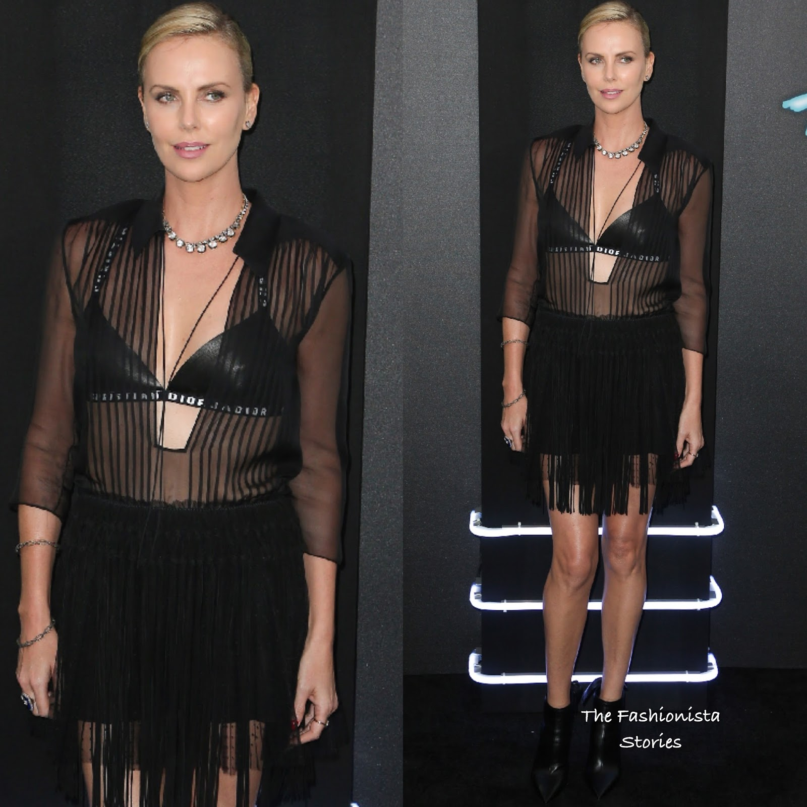 Charlize Theron Ny Blondes: Charlize Theron In Christian Dior At The 'Atomic Blonde