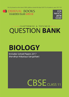 Oswaal CBSE Question Bank For Class 11 Biology (Mar.2018 Exam)