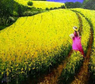 semblanza-de-colores-pinturas-con-mujeres chicas-paisajes-coloridos