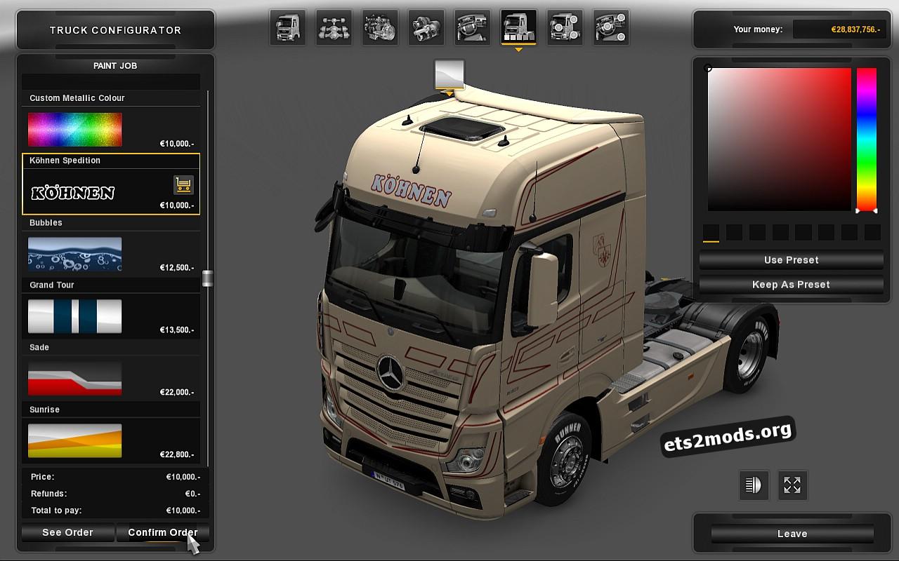 Köhnen Spedition Skin for Mercedes MP4