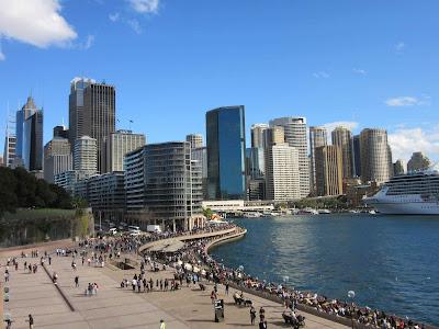 Vistas de la ciudad y Circular Quay desde Sydney Opera House