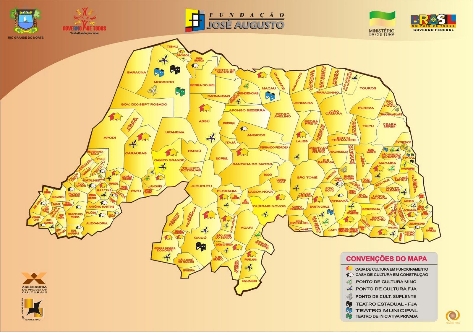 Mapas do Estado do Rio Grande do Norte