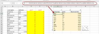 Desapilando columnas de datos en Excel.