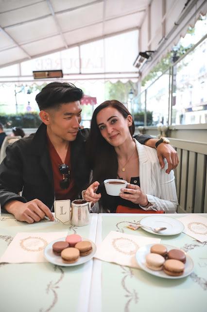 Alicia Mara and Leo Chan at Laudree in Paris