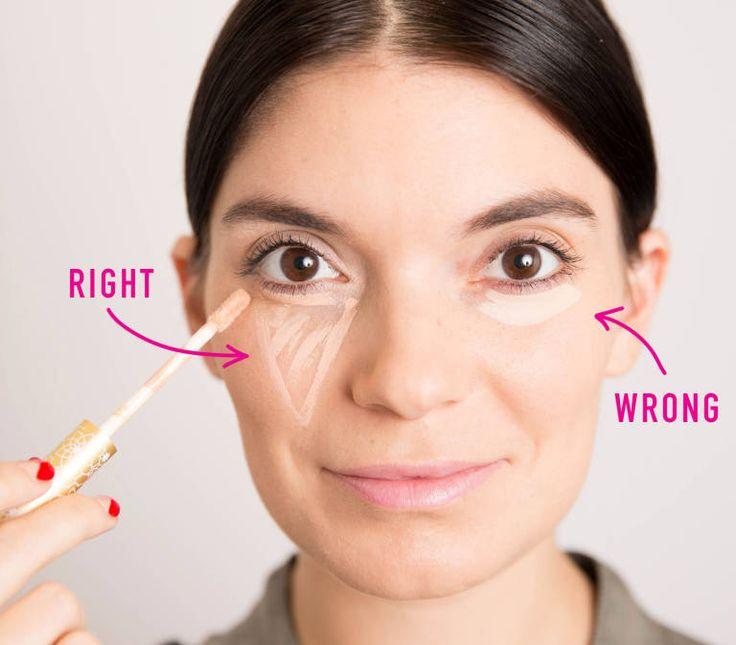 La mascarilla húmeda de la piel alrededor de los ojos