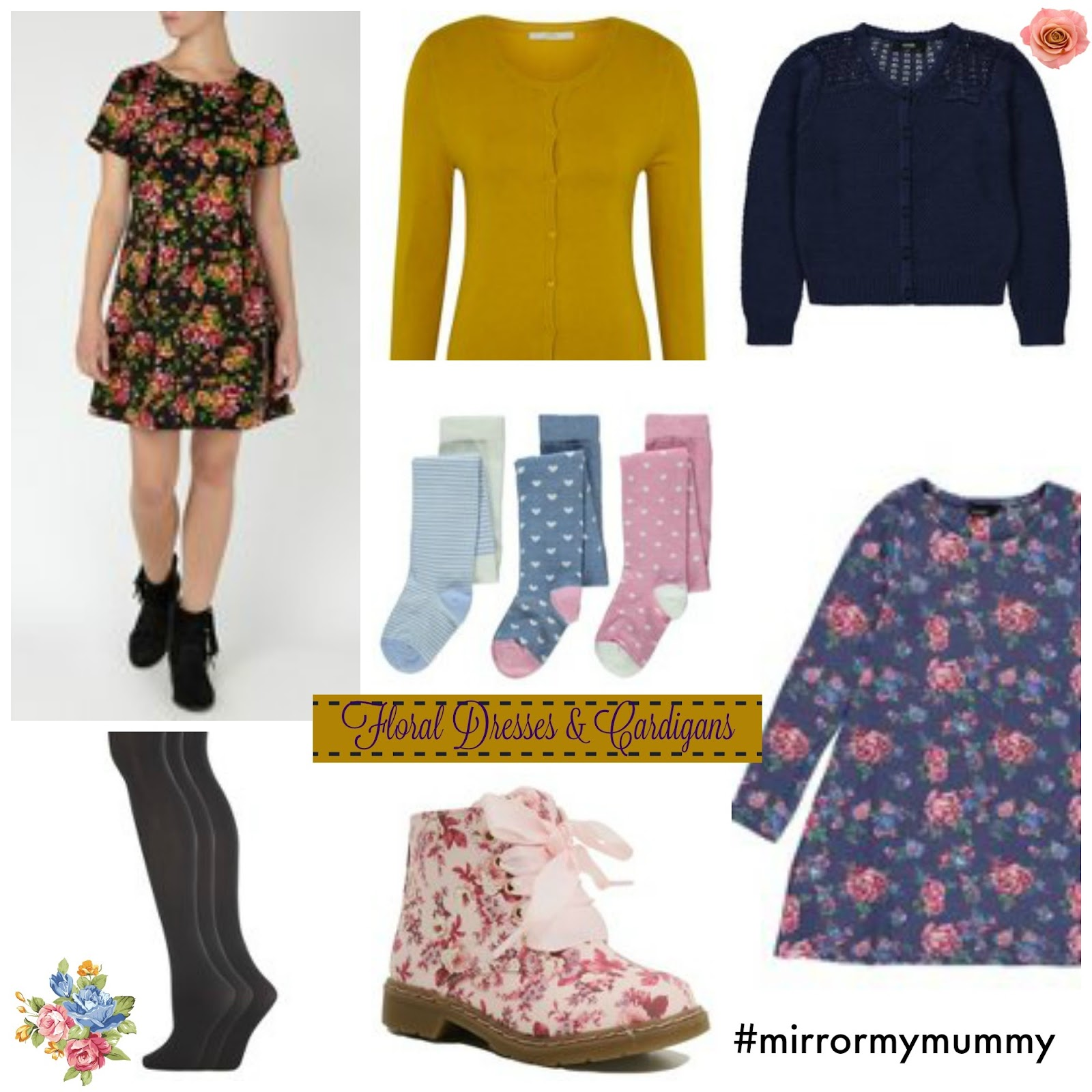 , Style:  Floral Dress and Cardigans #MirrorMyMummy