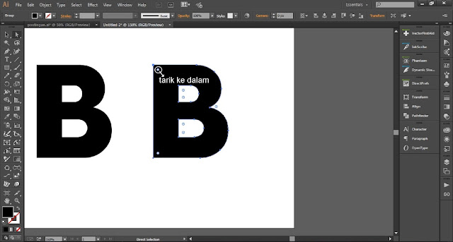 Cara Mudah Membuat Logo font Untuk Blogger Menggunakan Adobe Illustrator CC
