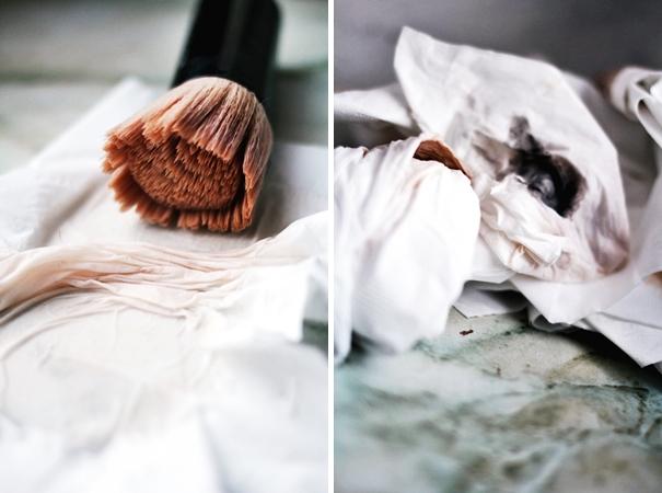 farbe abschminken lidschatten puder