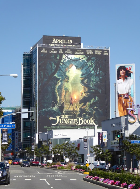 Giant Disney The Jungle Book billboard