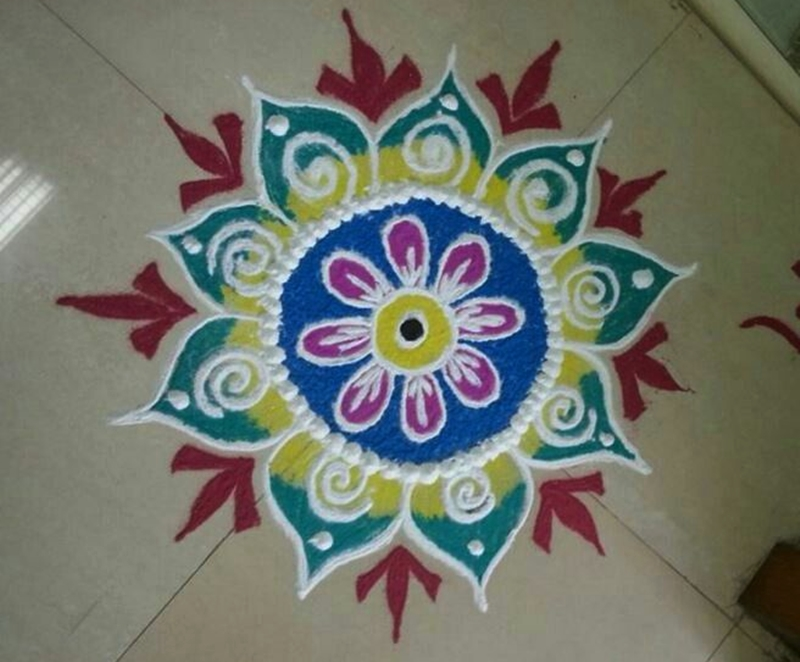 Happy New Year Rangoli Design Gallery 17