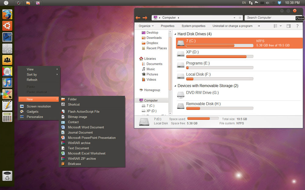 Ubuntu Unity Skin for Windows 7 or XP - NoobsLab | Tips for