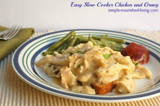 Slow Cooker Chicken and Gravy | Weight Watchers Recipe