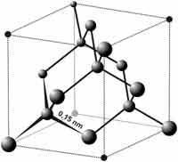 struktur kristal berlian