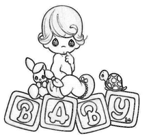 precious moment baby coloring pages - photo #5
