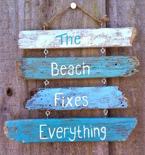 Driftwood sign with Saying