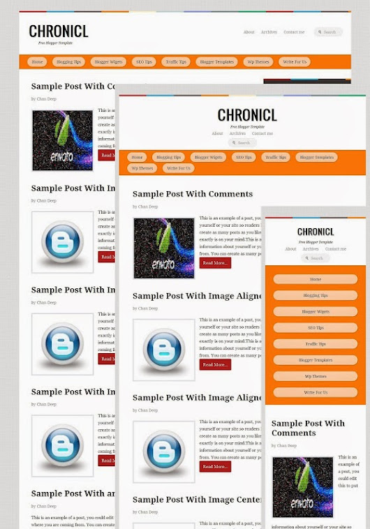 Blogger Templates Cloud: Chronicl Responsive Clone Blogger Template