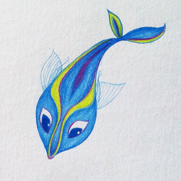 This is a graphic of Terrible Pretty Fish Drawing