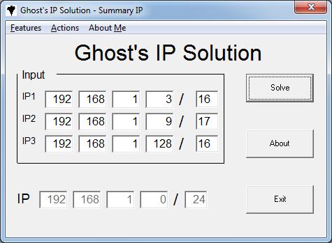 TÍnh summary IP