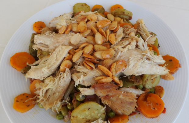 Mixed Vegetables with Boiled Chicken