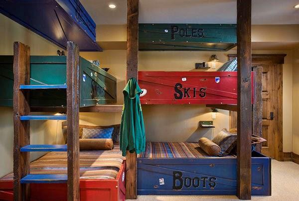 Dormitorio cuatro niños