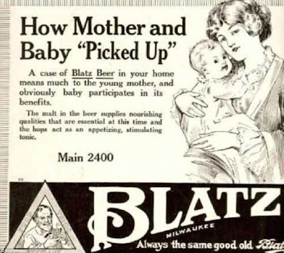 How Mother and Baby Picked Up -- Blatz