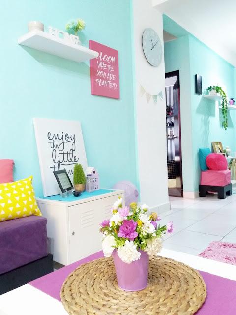 Irnanee Osman Memilih Untuk Menggunakan Warna Pastel Dan Corak Geometri Hiasan Dalaman Rumahnya Semua Barang Perhiasan Di Bilik Tidur Ruang Tamu