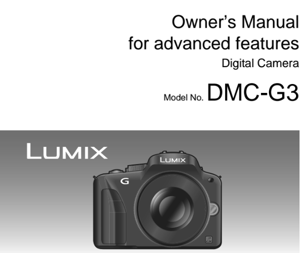 Panasonic Lumix DMC-G3 Manual