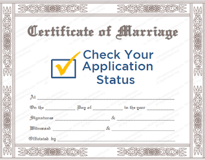 Marriage Certificate Status Check