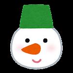 クリスマスの顔マーク(雪だるま)